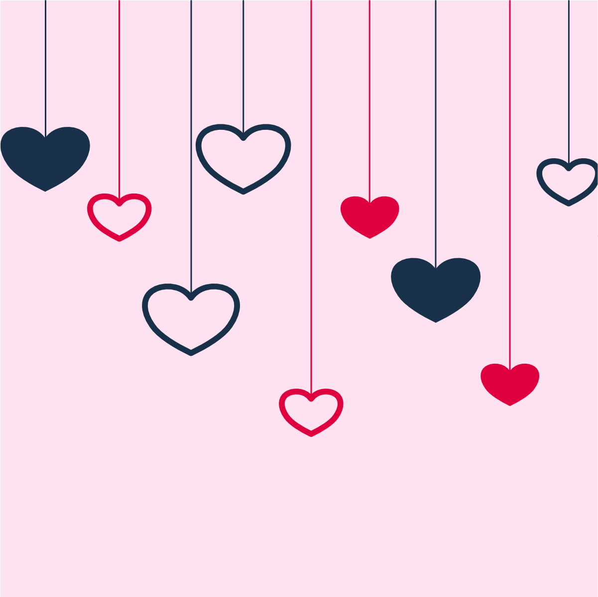 💘Free Download Stylish-hanging-hearts-background-for-valentines-day