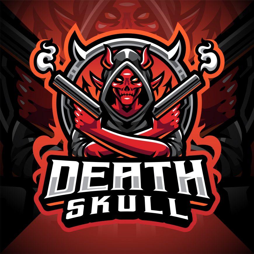 Death Skull Gunner Esport Mascot Logo