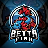 Betta Fish Esport Mascot Logo