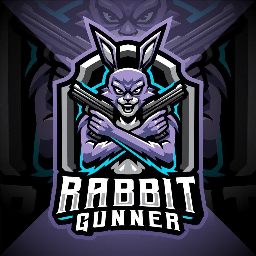 Rabbit Esport Mascot Logo