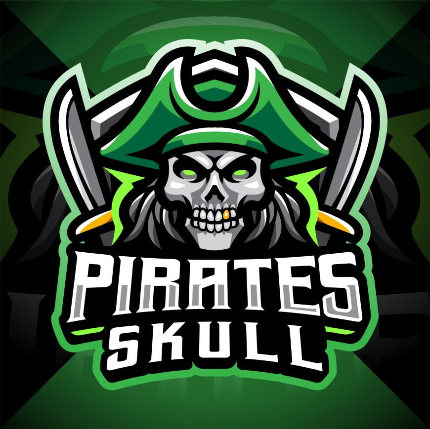 Skull Pirates Mascot Gaming Logo
