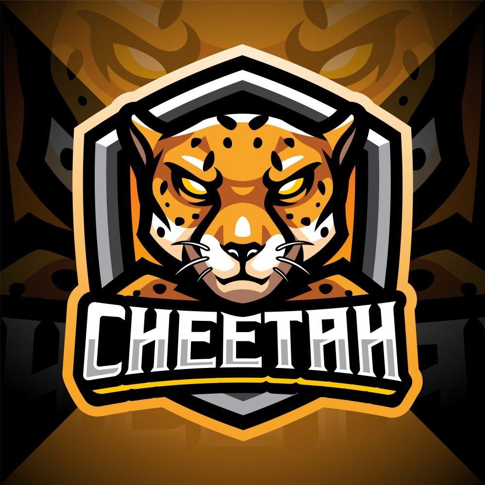 Cheetah Esport Mascot Logo