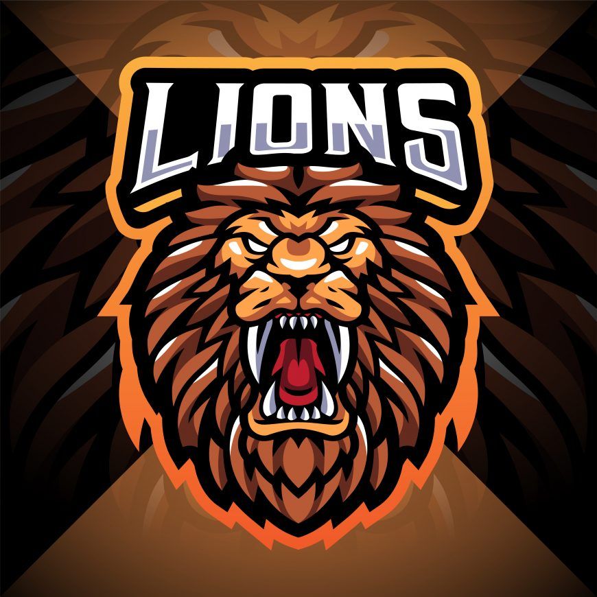 Lion Head Esport Mascot Logo