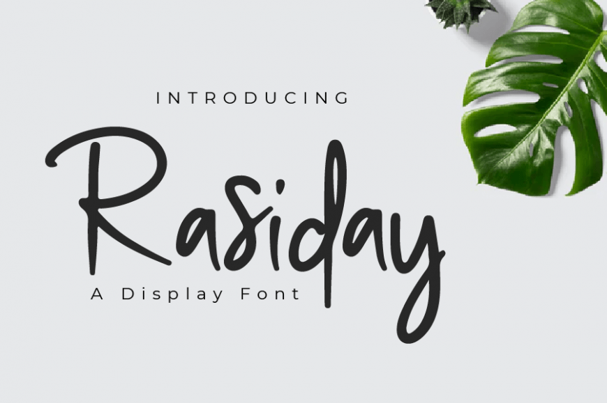 Rasiday display font Free Download
