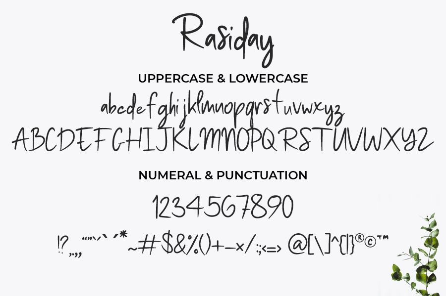 Rasiday display font Free
