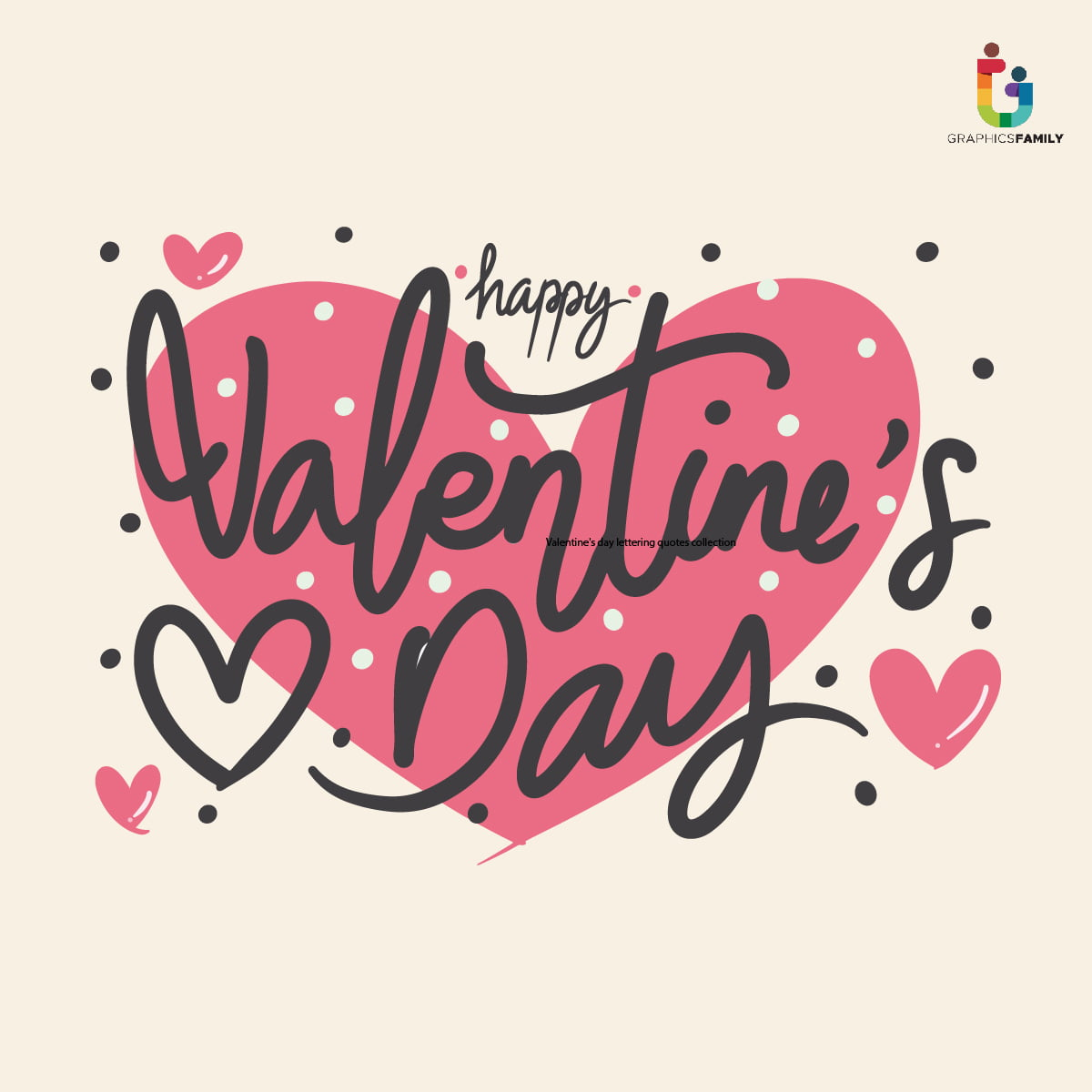Valentine's day lettering quotes collection