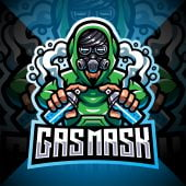 Gas Mask Esport Mascot Logo
