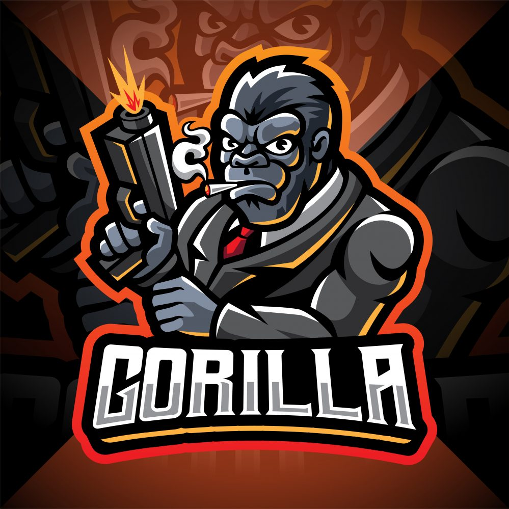 Gorilla Gunners Esport Mascot Logo