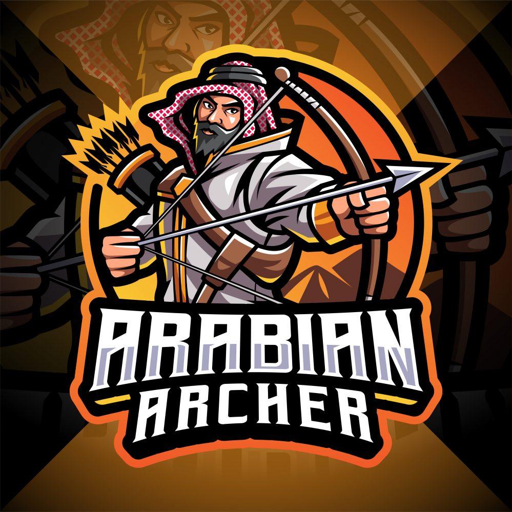 Arabian Archer Esport Mascot Logo