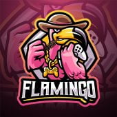 Flamingo Games Esport Mascot Logo