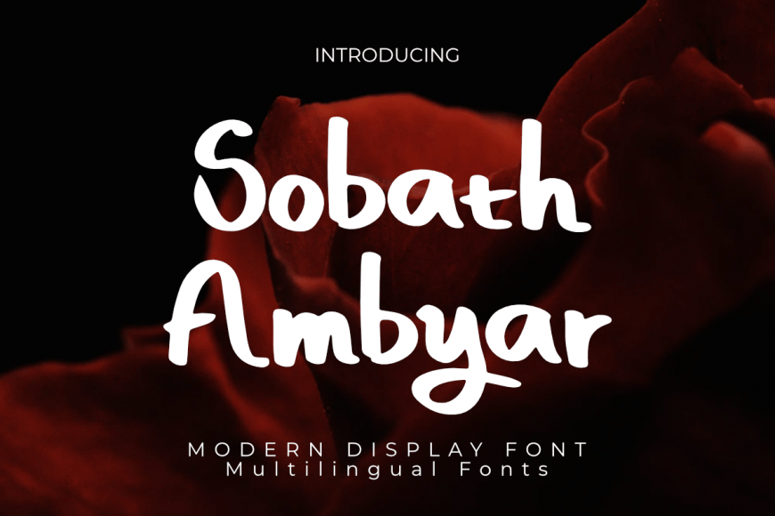 Sobath Ambyar Font
