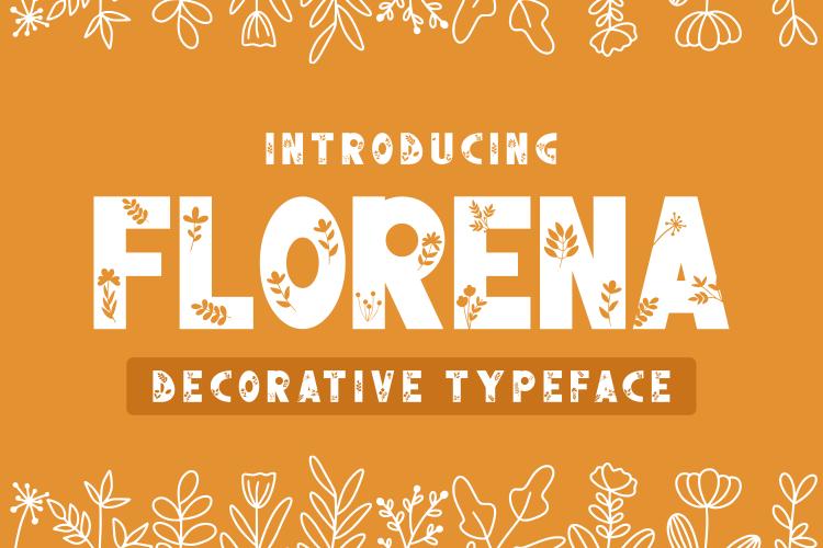 Florena Decorative Font