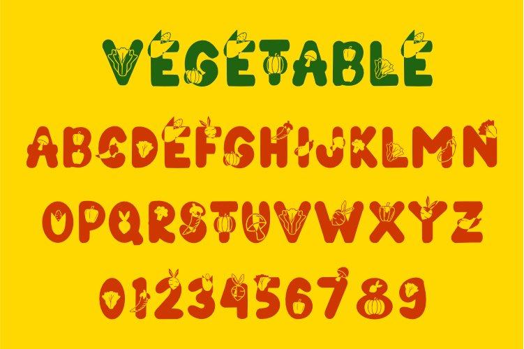 Vegetables Font