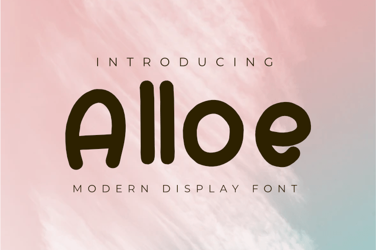 Alloe Modern Display Font