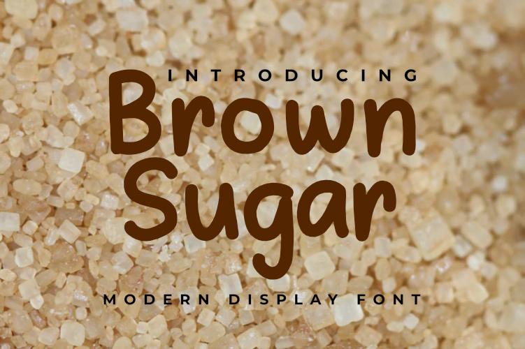 Brown Sugar Modern Display Font