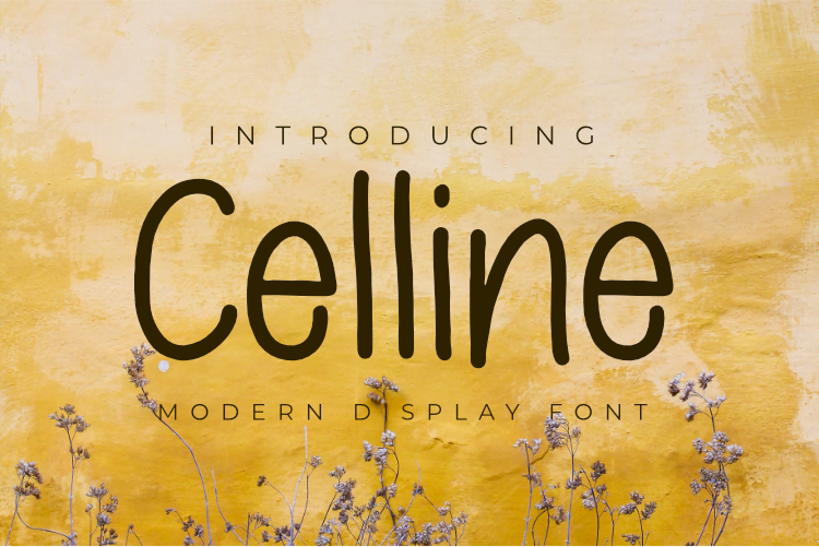 Celline Display Font