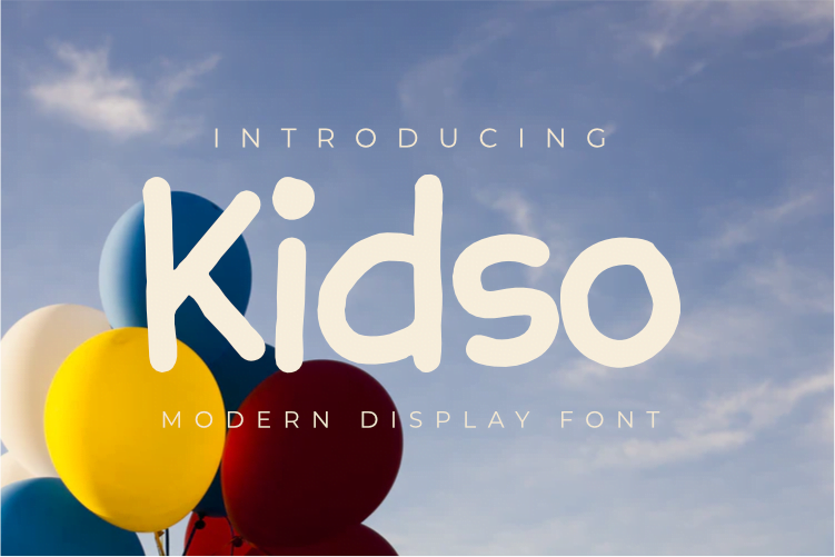 Free Kidso - Display font