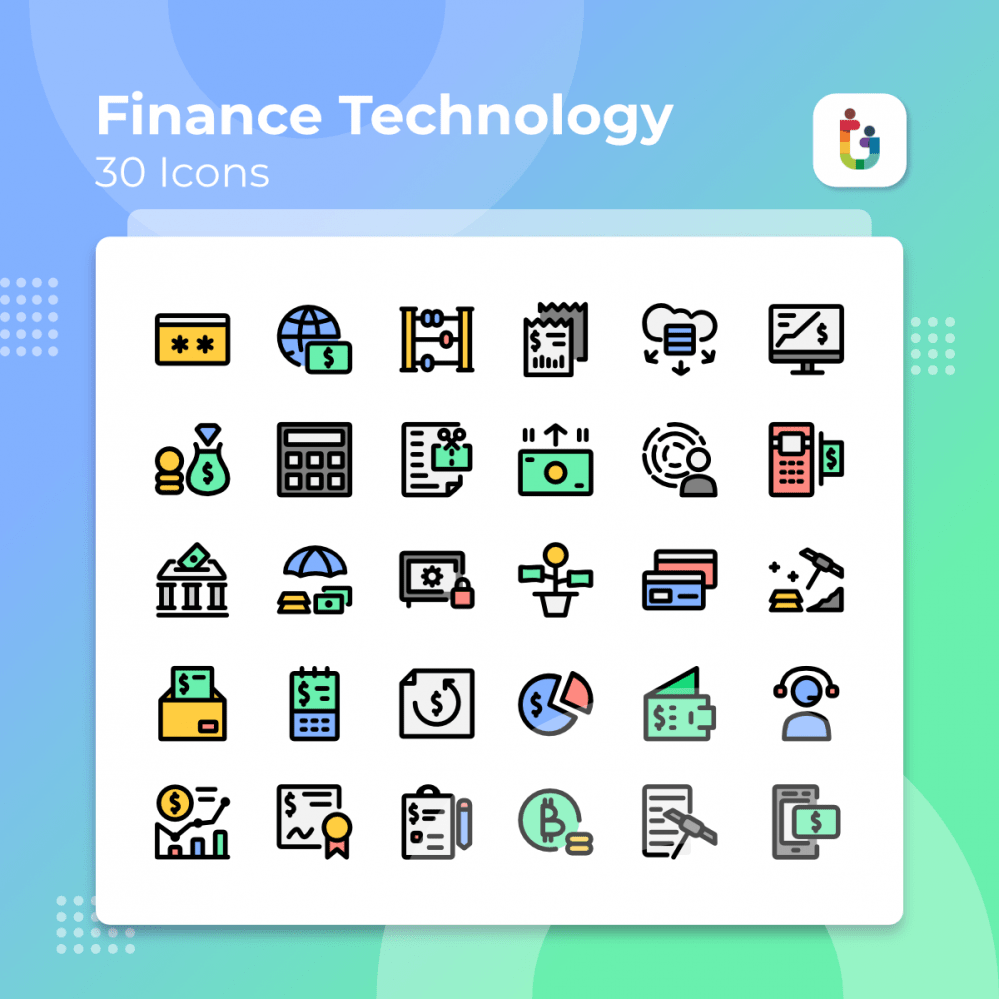 Finance-Technology-icons