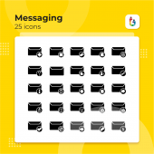 Free Download 25 Messaging Solid Style Icons
