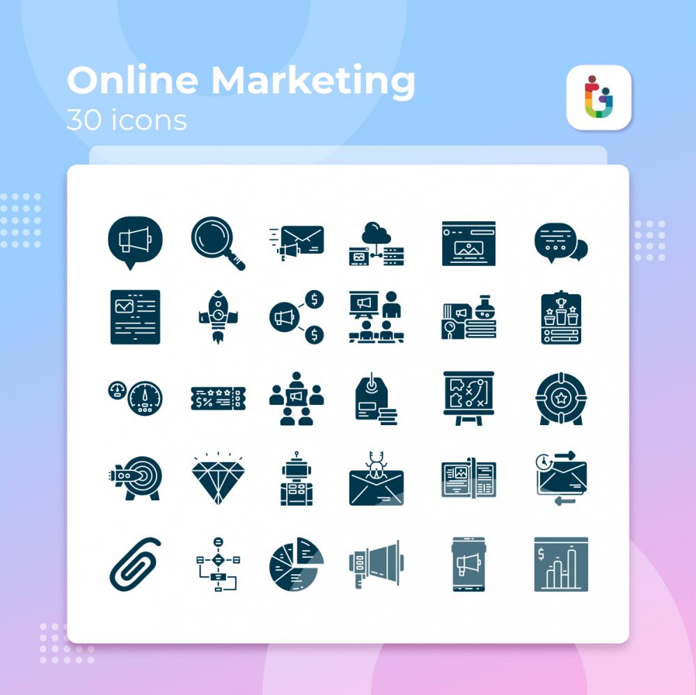 Online-Marketing-icons
