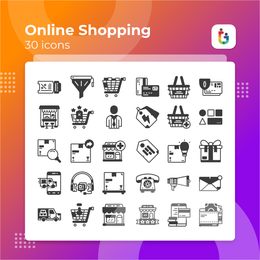 Online-Shopping-icons