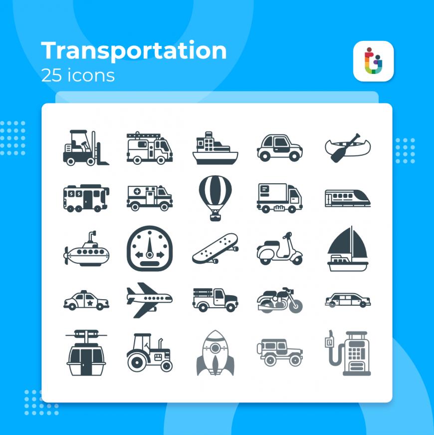Transportation-icons