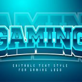 Blue Glow Gaming Text effect