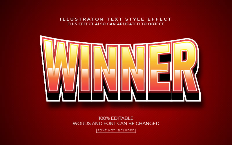 Curved Bold Text Effect