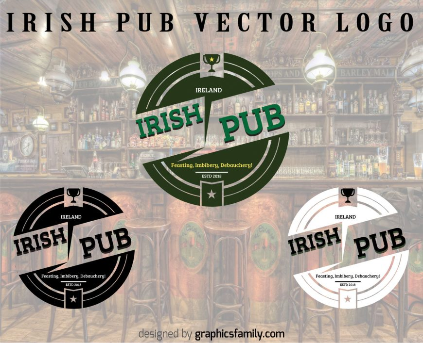 Free Irish Pub Logo with source