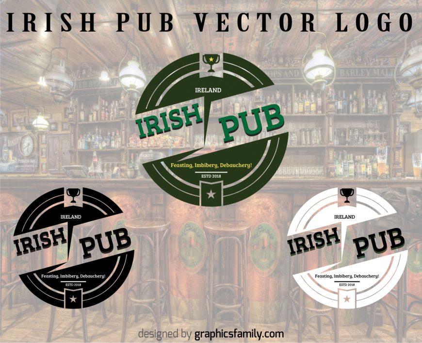 Free Irish Pub Logo with source