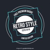Free Retro Badge