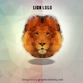 Free Lion Low Poly .psd Logo Source
