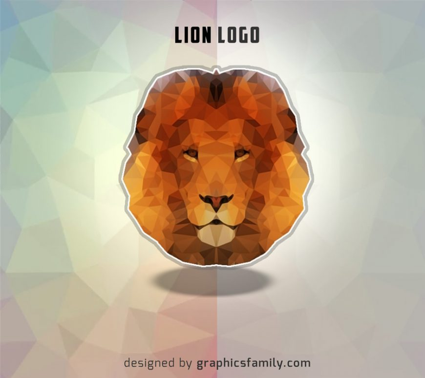 low-poly-lion-logo