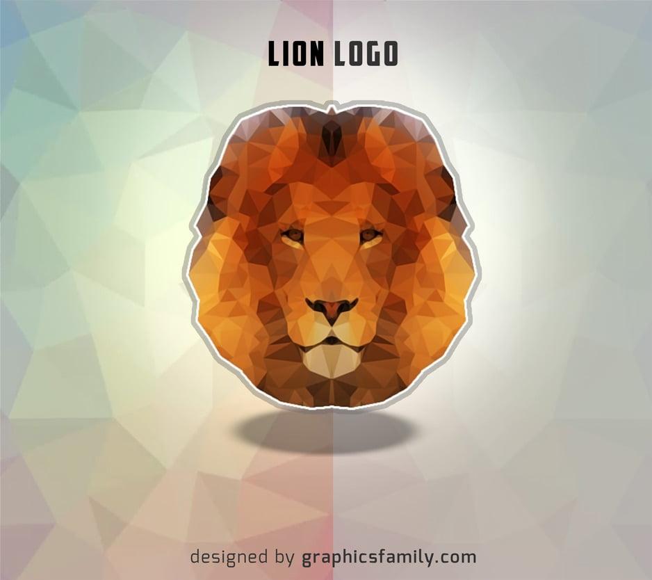 low-poly-lion-logo