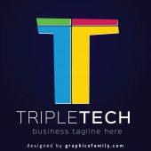 Free T Letter Logo Design – TripleTech