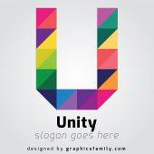 U Letter Free Logo Template