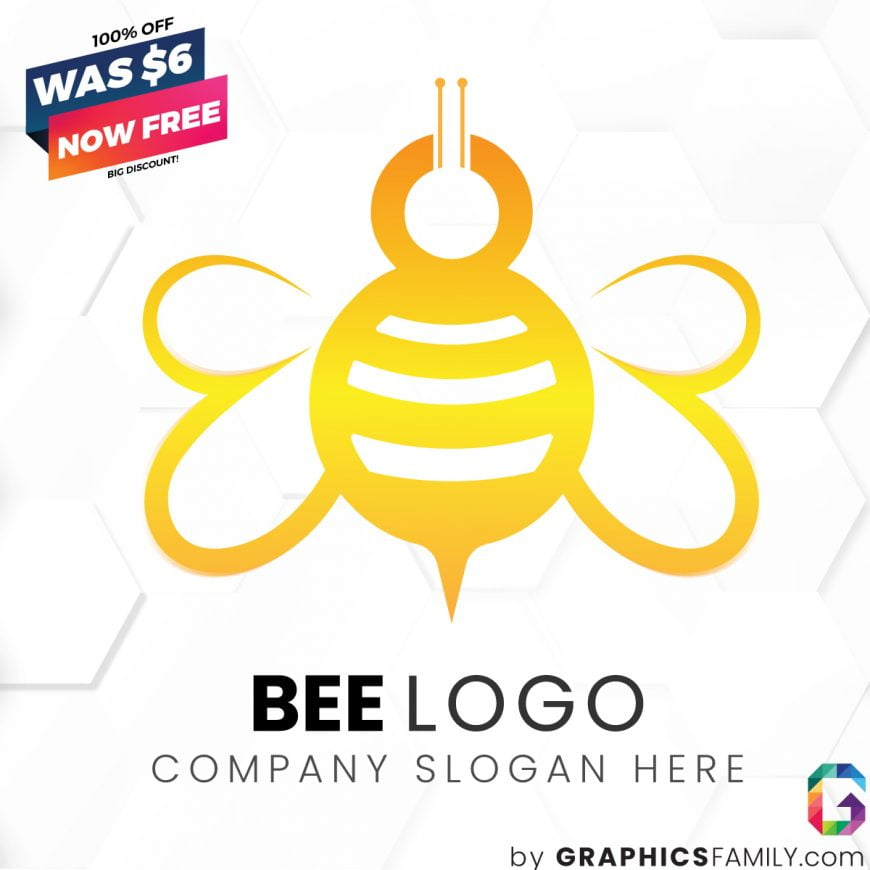 Bee-Free-Logo-Template-Download