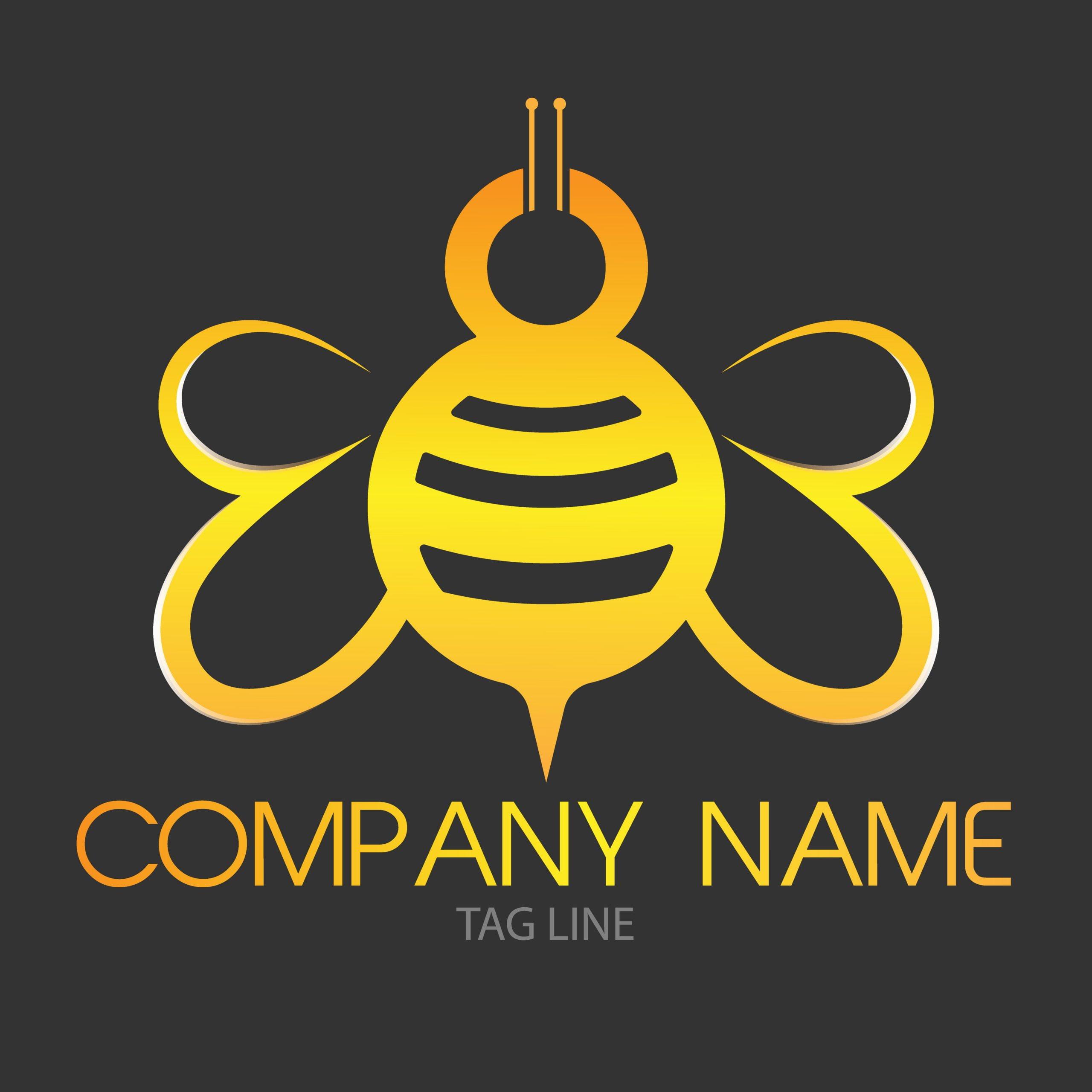 Bee Free Logo GraphicsFamily