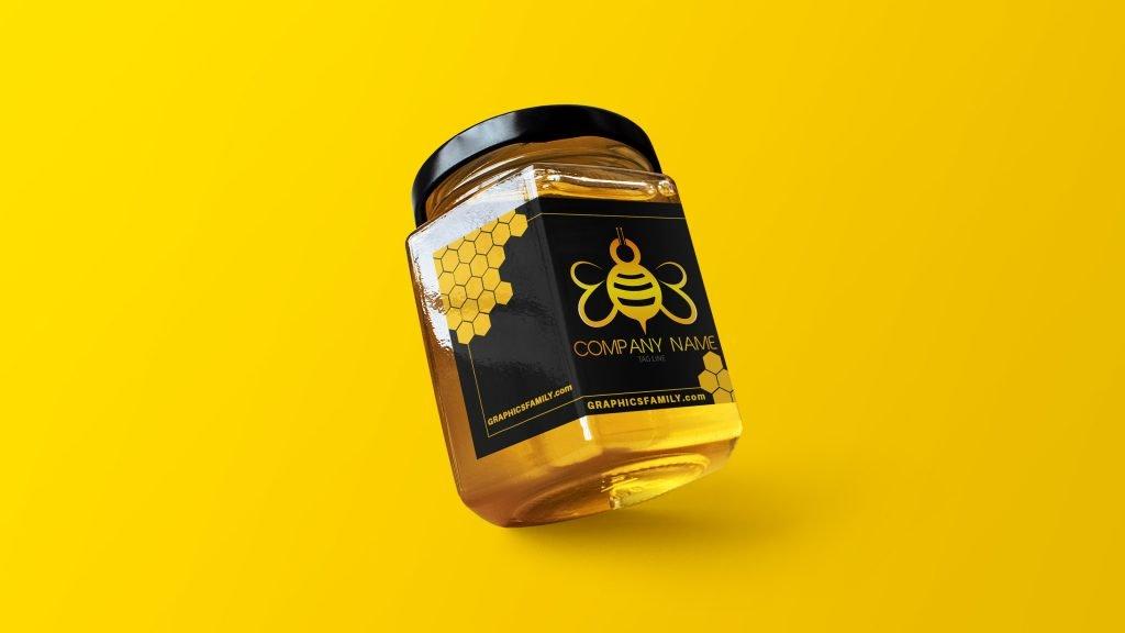 Bee-Logo-template-Mockup-Honey_Jar