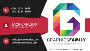 Business card free G letter logo