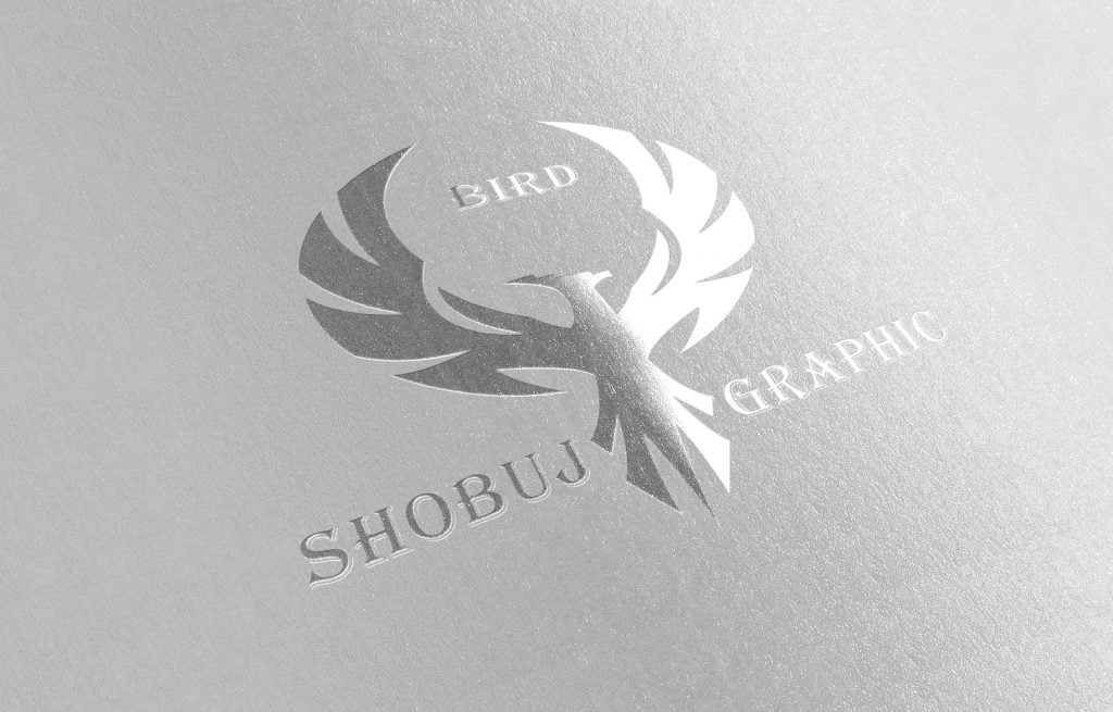 Creative Phoenix Attractive Logo Paper Mockup