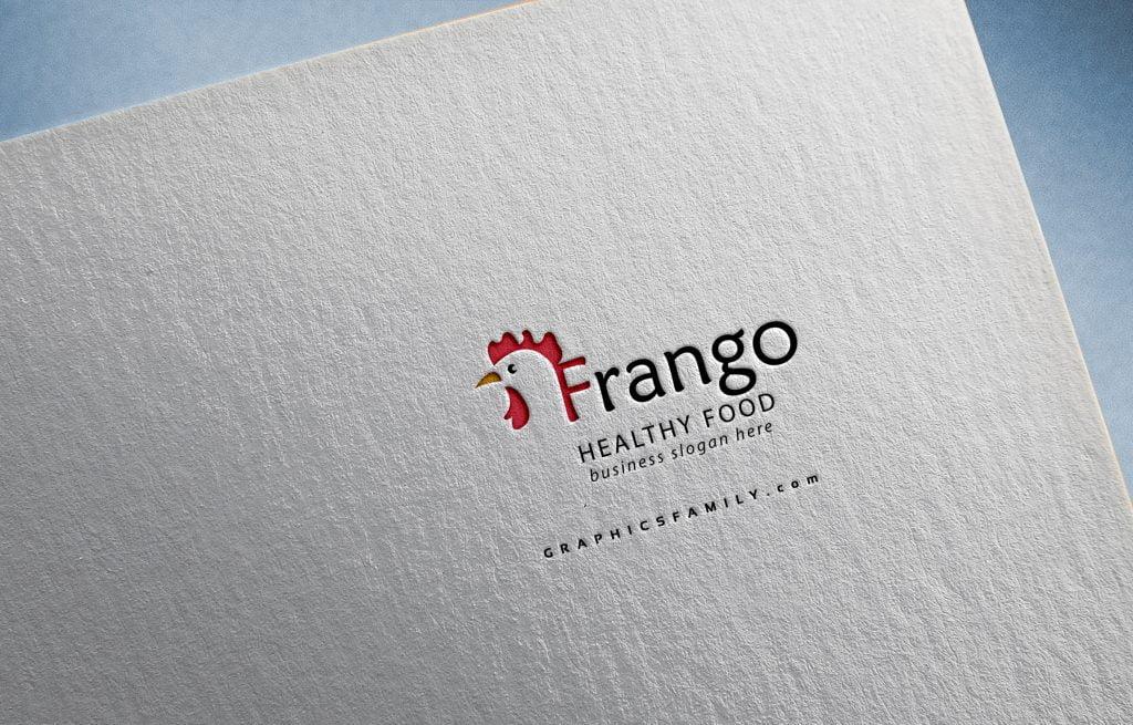Frango-Poultry-Farm-Logo-Template-Mockup