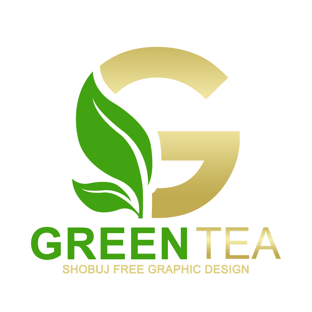 Green Tea Vector Logo Design PNG
