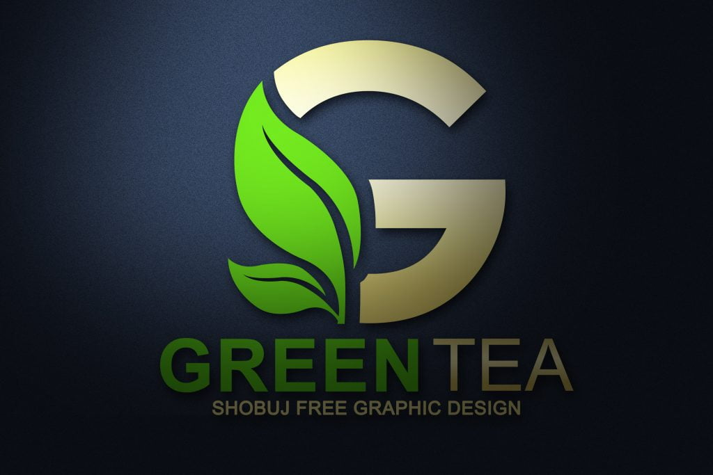 Green Tea Vector Logo Design - mockup jpeg