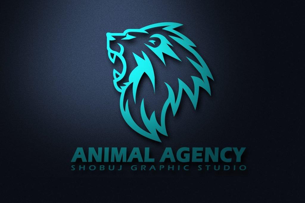 Lion Agency Logo Jpeg Mockup