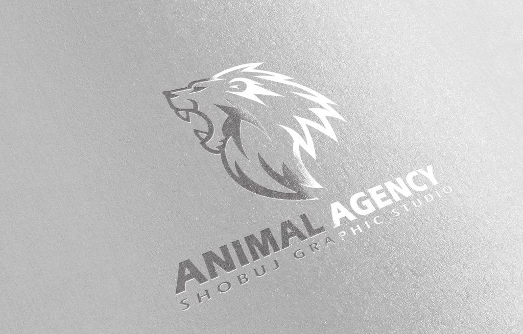 Lion Agency Logo Paper Mokcup Jpeg