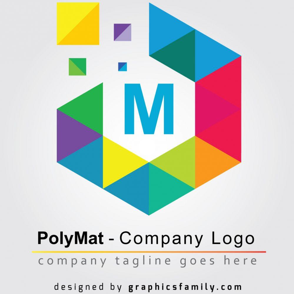Polymat logo template