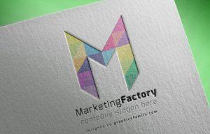 M letter logo mockup idea