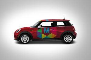 Mockup Car - Polymat Logo