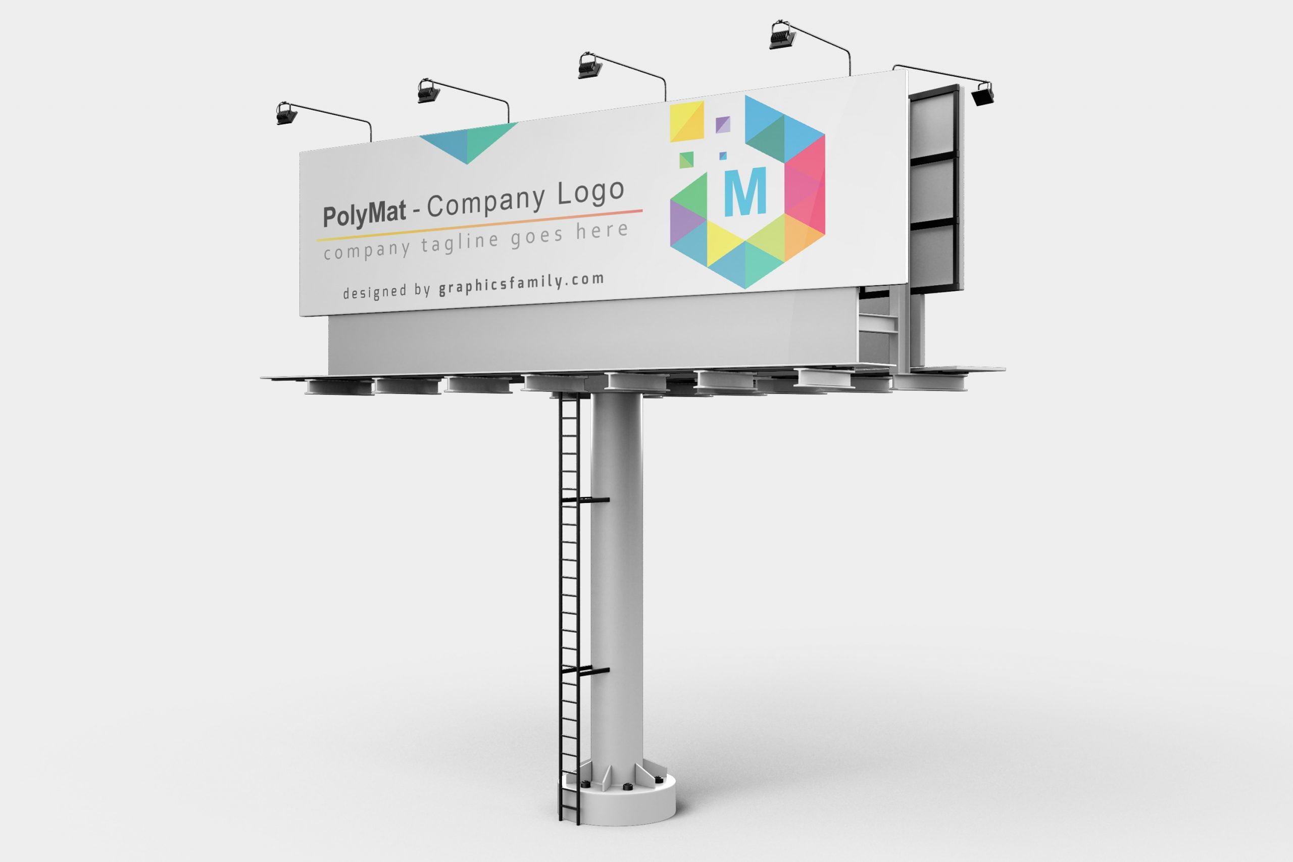 Mockup Sign Polymat logo